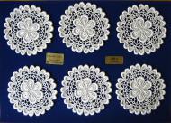 Gl�serset Design 63240 - 100% Baumwolle Gr��e 10 cm / Wei�