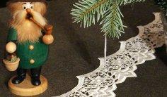 Weihnachtlich Dekorieren mit Spitze