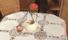 Tischdecken mit Spitze und Gewebe | auch nach Maß