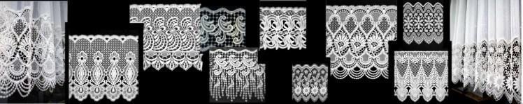 Gardinen-Sockel aus Spitze mit Oberstoff | Wunschmaß