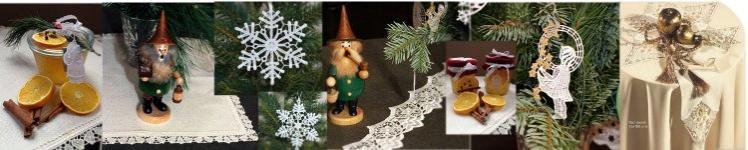 Weihnachten - festliche Tischwäsche und Dekos