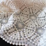 Bio-Tüll aus Baumwolle mit Stickerei - Design 69892 - roh