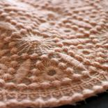 Bio-Kattun aus Baumwolle mit Stickerei - Design 69892 - melon