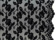 Tüll-Allover T01 in Schwarz, 125 cm breit - Muster