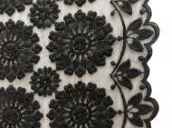 Tüll-Allover T05 in Schwarz, 120 cm breit - Muster