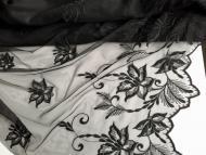 Tüll-Allover T07 in Schwarz, 70 cm breit - Muster