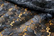 Spitzen-Allover A02 in Schwarz, 65 cm breit