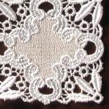Tischdecke Pillnitz klein | 23 x 23 cm Creme & Beige