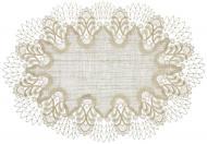 Tischdecke Design Oslo - 32 x 48 cm oval