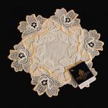 Design Heidelberg - 22 cm rund Champagner und Lachs | Acrylleinen AL