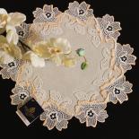 Design Heidelberg - 32 cm rund Champagner und Lachs | Jacquard M