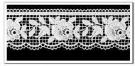 Spitzen-Borte B12, 5 cm breit, 2 Farben Weiß