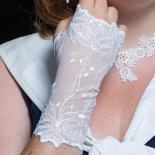 Stulpen Athene - Weiß M | mit Daumenloch
