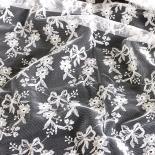 Tüll-Allover T11 in Weiß, 120 cm breit - Muster