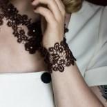 Breites Armband Viviana - Mokka