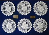 Gläserset Design 63240 -  6 Stück aus 100% Baumwolle Weiß