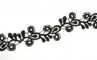 Spitzen-Borte B15 in Schwarz, 2,6 cm breit