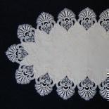 Design Würzburg - 45 x 85 cm oval Damast E