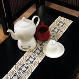 Design Luzern - Tischband 12 x 105 cm Champagner & Beige