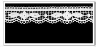 Spitzen-Borte B13 in Creme, 3 cm breit