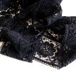Spitzen-Borte B24 in Schwarz, 9 cm breit