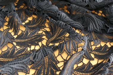 Spitzen-Allover A11 in Schwarz, 70 cm breit