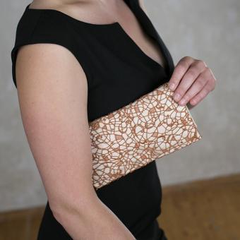 Handtasche Miro - Spitze in Safran