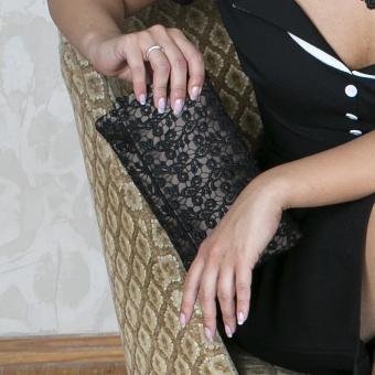 Handtasche Viviana - auf Satin Braun