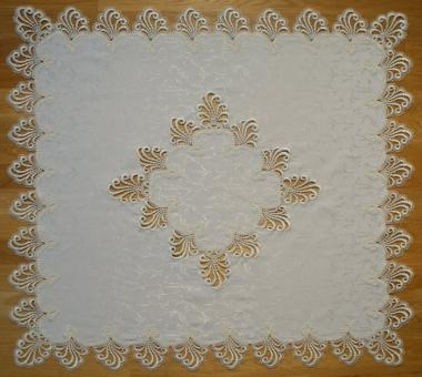 Design Nizza - 80 x 80 cm eckig mit Mitte - schmale Spitze