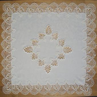 Design Nizza - 80 x 80 cm eckig mit Mitte - breite Spitze