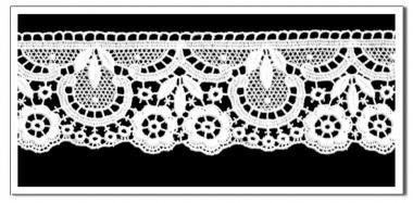 Spitzen-Borte B14 in Weiß,5,5 cm breit