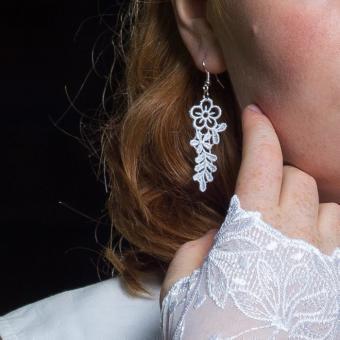 Ohrringe Violetta - Weiß
