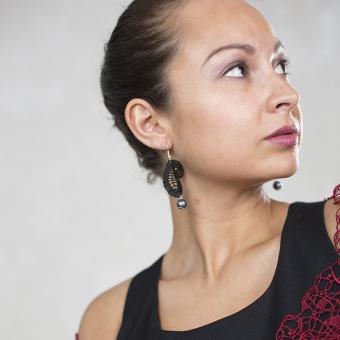Ohrringe Kate - Schwarz