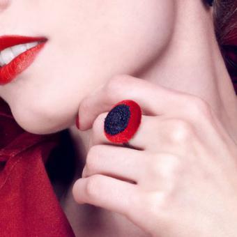 Ring Audrey - schwarze Spitze