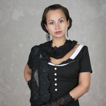 Schal Athene - Schwarz