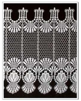Gardine Design 68366 30 cm  | Weiß
