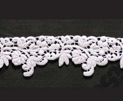 Borte aus Bio-Baumwolle Design 69570 - weiss