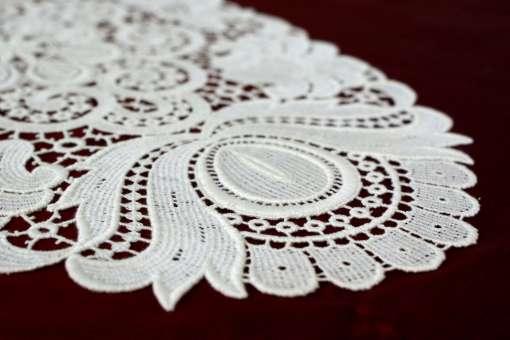 Design Plauen - 25 x 45 cm oval Weiß