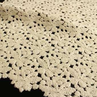 Guipure-Allover aus BIO-Baumwolle Design 69554 - roh
