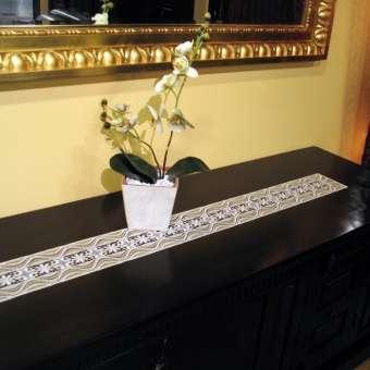 Design Luzern - Tischband 12 x 120 cm Champagner & Lachs