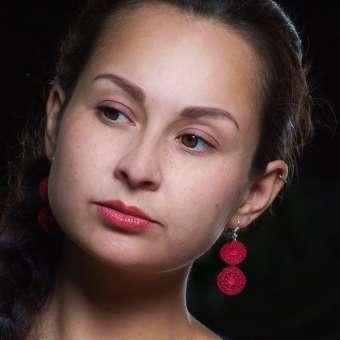 Ohrhänger Audrey - Weinrot, lang