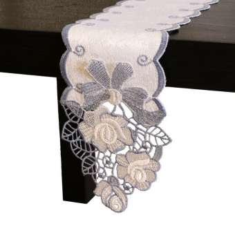 Tischband Rose - Blau | Breite 11,5 cm | versch. Längen