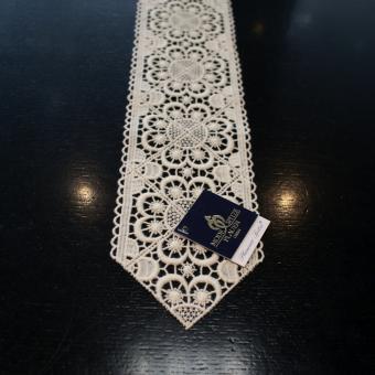 Tischband Design 67105 Weiß