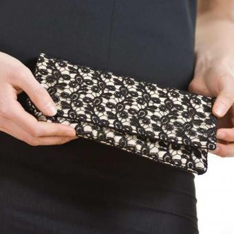 Handtasche Viviana - auf Satin Creme