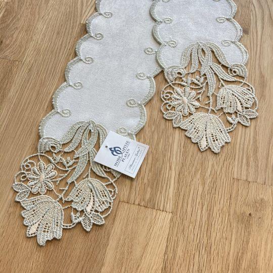 Tischband Tulpe - Beige | Breite 11,5 cm | versch. Längen 160 cm