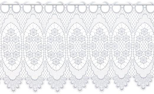 Scheibengardine Spitze Design 68109 30 cm | Weiß