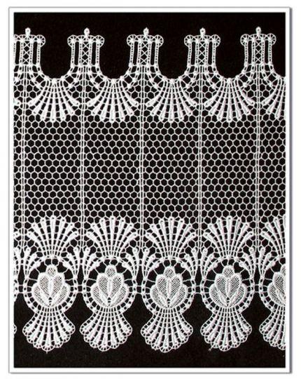 Gardine Design 68366 30 cm    Weiß
