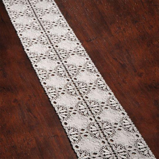 Tischband Pillnitz | Breite 15 cm | versch. Längen 92 | Creme