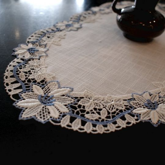 Design Paris - blau - 30 x 59 cm oval