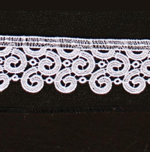Borte aus Bio-Baumwolle Design 69654 - weiss